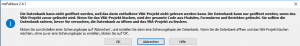 Die Datenbank kann nicht geöffnet werden, weil das enthaltene VBA-Projekt nicht gelesen werden kann