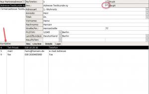 Partnermanager - Kontaktdaten
