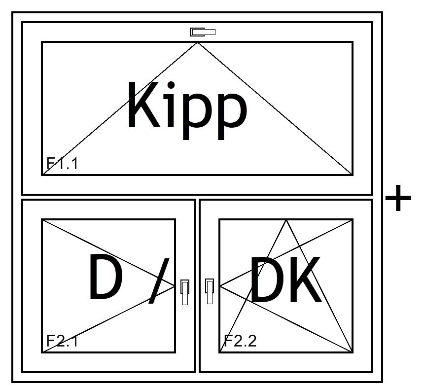 Fensterkonstruktion Kipp+D/DK