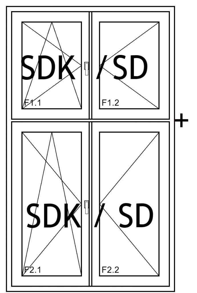 Fensterkonstruktion sd/sdk+sd/sdk