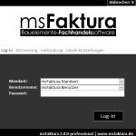 msFaktura Login mit Benutzer und Mandantenauswahl