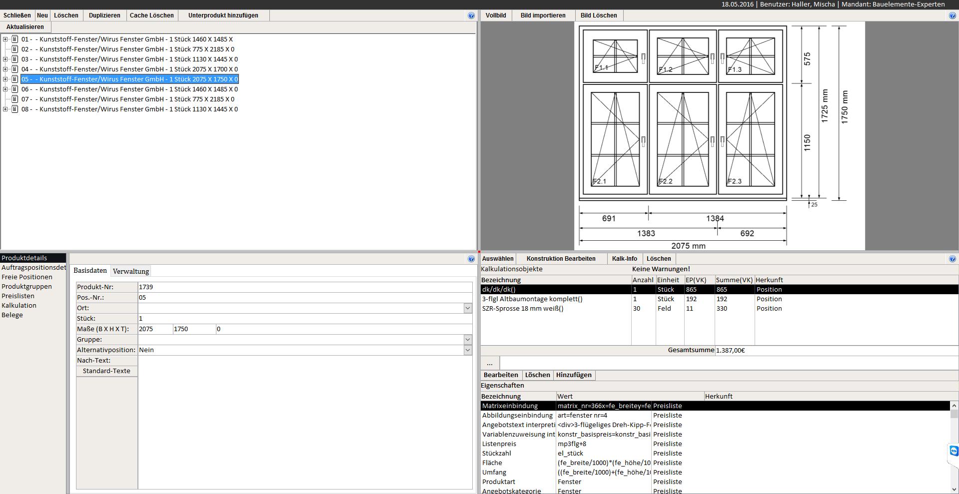 Fensterbausoftware, Angebotssoftware für Fenster, Türen und ...