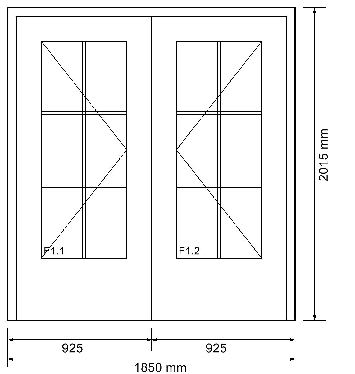 innent r 2 fl gelig mit lichtausschnitt und sprossen. Black Bedroom Furniture Sets. Home Design Ideas