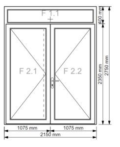 2-flügelige Haustür