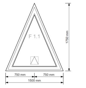 Dreiecks-Fenster Kipp