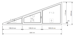 Schrägfenster 3-Feldrig